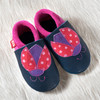 "Handmade Natural Leather Soft-Soled Shoe- ""Ladybug"""