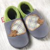 "Handmade Natural Leather Soft-Soled Shoe- ""Hedgehog"""