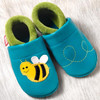 "Handmade Natural Leather Soft-Soled Shoe - ""Susi the Bee"""