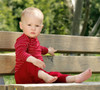 Organic Wool Leggings, Cherry Red