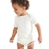 Organic Cotton Short Sleeved Bodysuit with Envelope Neck