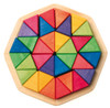 Wooden Octagon Mosaic Puzzle, 32 Triangles