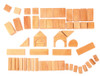 Wooden Geo Blocks in Natural by Grimm&#039;s Spiel &amp; Holz (60 pcs)
