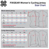 women cycle jersey size chart