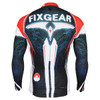 FIXGEAR CS-3501 Men's Cycling Jersey long sleeve rear view
