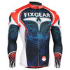 FIXGEAR CS-3501 Men's Cycling Jersey long sleeve front view