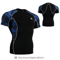FIXGEAR C2S-B1 Compression Base Layer Shirts Short Sleeve