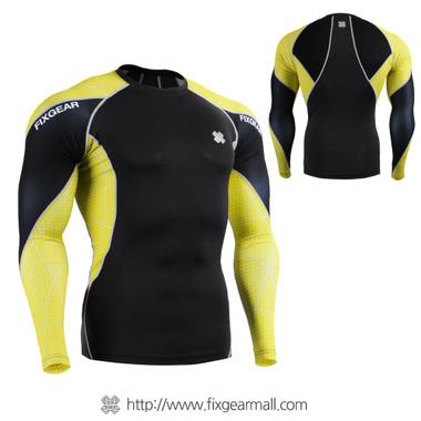 FIXGEAR C3L-B70Y Compression Base Layer Shirts