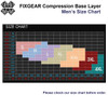 FIXGEAR CP-W3 Compression Base Layer Shirts size chart
