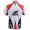 FIXGEAR BM-3602 Casual Mens short sleeve jersey 1/4 zip-up T-shirt Rear