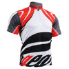 FIXGEAR BM-3602 Casual Mens short sleeve jersey 1/4 zip-up T-shirt Front