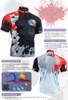 FIXGEAR BM-4402 Casual Mens short sleeve jersey 1/4 zip-up T-shirt Description