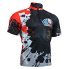FIXGEAR BM-4402 Casual Mens short sleeve jersey 1/4 zip-up T-shirt Front