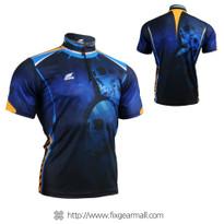 FIXGEAR BM-5302 Men's Casual short sleeve jersey 1/4 zip-up T-shirt
