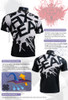 FIXGEAR BM-5402 Casual Mens short sleeve jersey 1/4 zip-up T-shirt Description