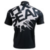 FIXGEAR BM-5402 Casual Mens short sleeve jersey 1/4 zip-up T-shirt Rear