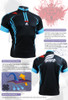 FIXGEAR BM-5602 Casual Mens short sleeve jersey 1/4 zip-up T-shirt Description