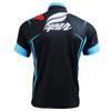 FIXGEAR BM-5602 Casual Mens short sleeve jersey 1/4 zip-up T-shirt Rear