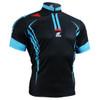 FIXGEAR BM-5602 Casual Mens short sleeve jersey 1/4 zip-up T-shirt Front