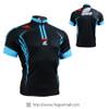 FIXGEAR BM-5602 Casual Mens short sleeve jersey 1/4 zip-up T-shirt