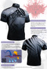 FIXGEAR BM-5702 Casual Mens short sleeve jersey 1/4 zip-up T-shirt