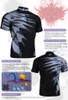 FIXGEAR BM-5902 Casual Mens short sleeve jersey 1/4 zip-up T-shirt Description
