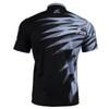 FIXGEAR BM-5902 Casual Mens short sleeve jersey 1/4 zip-up T-shirt Rear