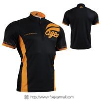 FIXGEAR BM-6002 Casual Mens short sleeve jersey 1/4 zip-up T-shirt