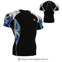 FIXGEAR C2S-B19B Compression Shirts Base Layer Short Sleeve