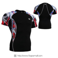 FIXGEAR C2S-B19R Compression Shirts Base Layer Short Sleeve