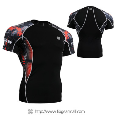 FIXGEAR C2S-B30 Compression Shirts Base Layer Short Sleeve