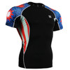 FIXGEAR C2S-B37 Compression Shirts Base Layer Short Sleeve Front