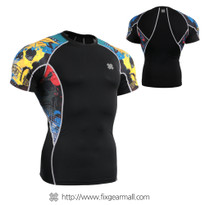 FIXGEAR C2S-B46 Compression Shirts Base Layer Short Sleeve