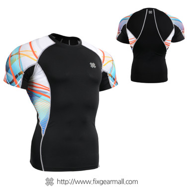 FIXGEAR C2S-B49 Compression Shirts Base Layer Short Sleeve