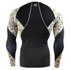 FIXGEAR C3L-B45Y Compression Base Layer Shirts back view