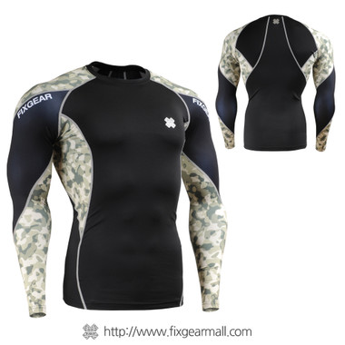 FIXGEAR C3L-B45Y Compression Base Layer Shirts