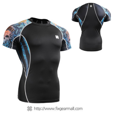 FIXGEAR C2S-B74 Compression Shirts Base Layer Short Sleeve front