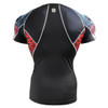 FIXGEAR C2S-B73 Compression Shirts Base Layer Short Sleeve rear view