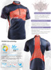 FIXGEAR BM-7502 Casual Mens short sleeve jersey 1/4 zip-up T-shirt description