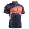 FIXGEAR BM-7502 Casual Mens short sleeve jersey 1/4 zip-up T-shirt front