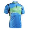 FIXGEAR BM-75B2 Casual Mens short sleeve jersey 1/4 zip-up T-shirt front