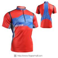 FIXGEAR BM-75R2 Casual Mens short sleeve jersey 1/4 zip-up T-shirt