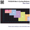 FIXGEAR Men's Cycling Padded Pants Shorts Size Chart