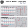 Women's Cycling Jersey Size Chart