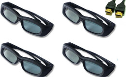 LG LEX8 Compatible 3D Shutter Glasses  Set of 4