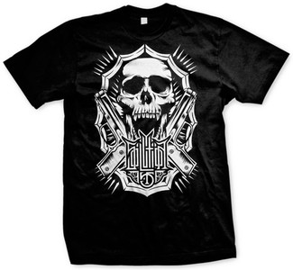 Solution 45 Skull Gun T-shirt