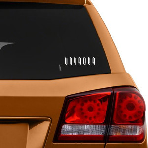 Voyager Logo Car Window Decal