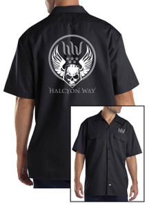 Halcyon Way - Dickies Workshirt - Militant Skull