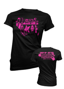 H.E.A.T - Hot Pink Photo Ladies T-Shirt