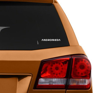 Andromeda Logo Car Window Decal